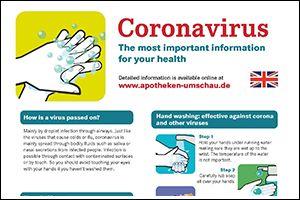 "Informations-Poster ""Coronavirus"" Englisch (PDF)"