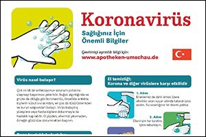 "Informations-Poster ""Coronavirus"" Türkisch (PDF)"