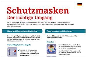 """Informations-Flyer """"Schutzmasken"""" Deutsch (PDF)"""