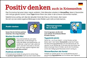 """Informations-Flyer """"Positiv denken"""" Deutsch (PDF)"""