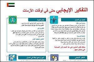 "Informations-Poster ""Positiv denken"" Arabisch (PDF)"