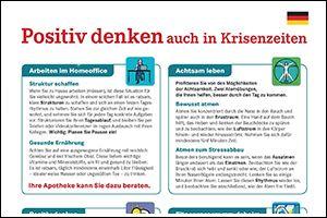 """Informations-Poster """"Positiv denken"""" Deutsch (PDF)"""