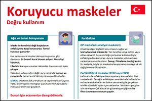 """Informations-Flyer """"Schutzmasken"""" Türkisch (PDF)"""