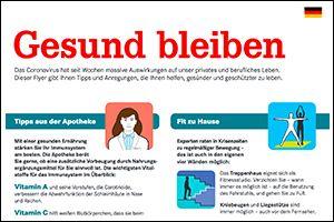 """Informations-Poster """"Gesund bleiben"""" Deutsch (PDF)"""