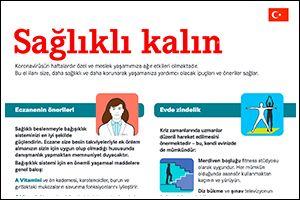 """Informations-Poster """"Gesund bleiben"""" Türkisch (PDF)"""