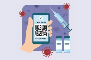 """Informations-Flyer: """"Digitaler Impfnachweis – Ein Überblick"""" (Englisch)"""